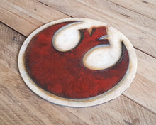 Load image into Gallery viewer, STAR WARS Rebel Alliance logo. Wood Sign.