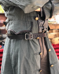 Wand leather Holster Belt.