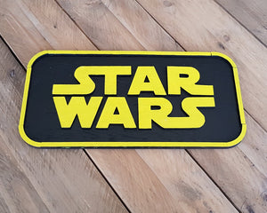 STAR WARS logo. Wood Sign.