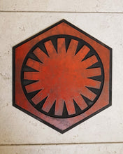 Load image into Gallery viewer, STAR WARS First Order logo. Wood Sign.