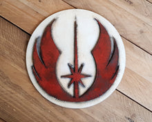 Load image into Gallery viewer, STAR WARS JEDI Order logo. Wood Sign.