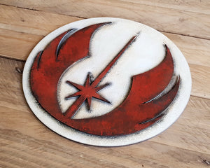 STAR WARS JEDI Order logo. Wood Sign.