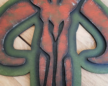 Load image into Gallery viewer, STAR WARS MANDALORIAN Logo. Wood Sign.
