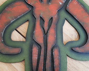 STAR WARS MANDALORIAN Logo. Wood Sign.