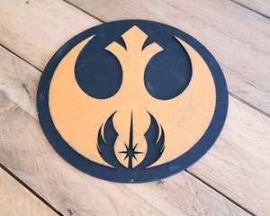 STAR WARS JEDI order Rebel Alliance logo. Wood Sign.