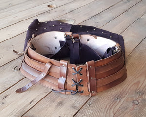 Shieldmaiden viking Leather belt and tassets.