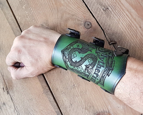 Slytherin Leather Bracer.