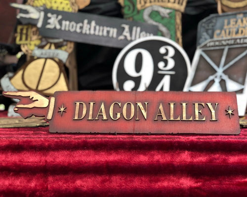 Diagon Alley Wood Sign.