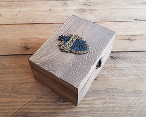 Wood Potions box for House RAVENCLAW.