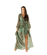 Load image into Gallery viewer, Burnout Velvet Maxi Wrap Dress - Lady Jetset