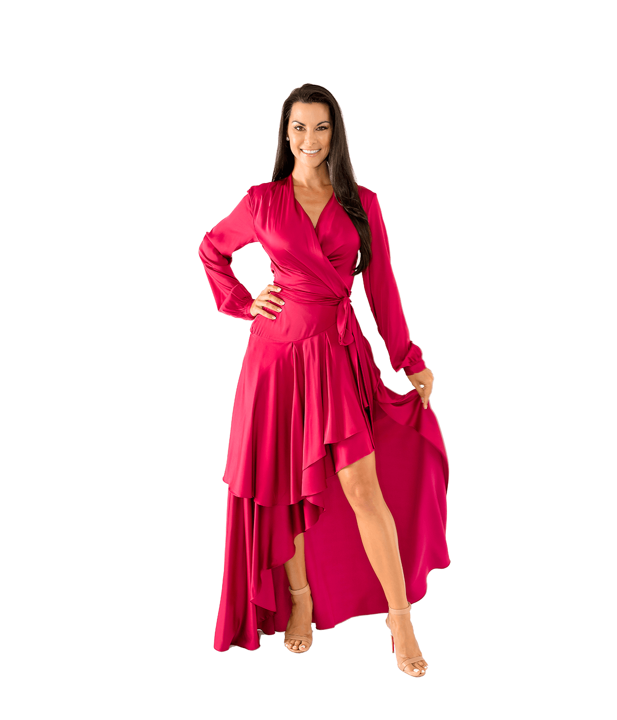 High Low Maxi Wrap Dress - Lady Jetset