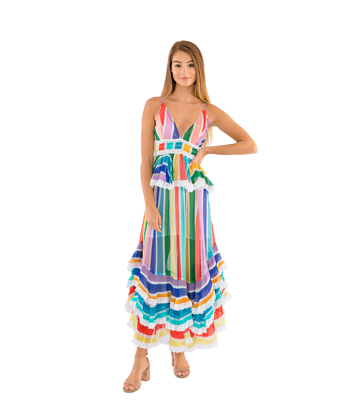Mirage Multicolor Cami Dress - Lady Jetset