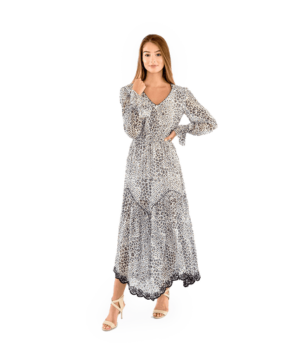Aarya Spotted Maxi Dress - Lady Jetset
