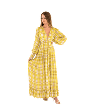 Load image into Gallery viewer, Rewind Plaid Long Dress - Lady Jetset