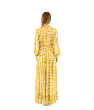 Rewind Plaid Long Dress - Lady Jetset