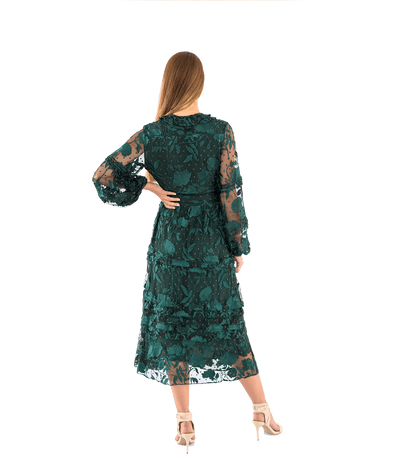 Rumi Burnout Velvet Midi Dress - Lady Jetset