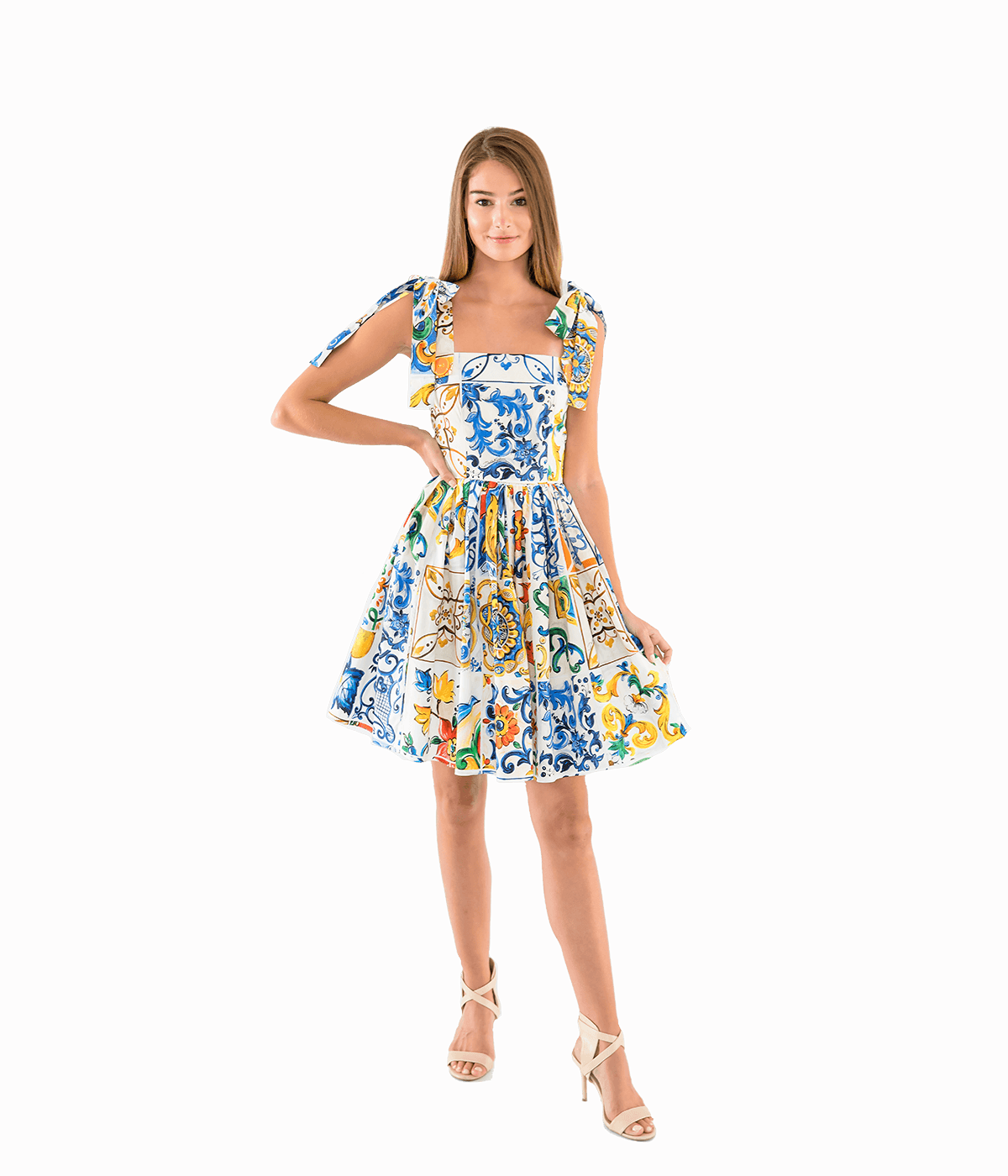 Majolica Print Mini Dress - Lady Jetset