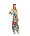 Multi Floral Tiered Maxi Dress - Lady Jetset