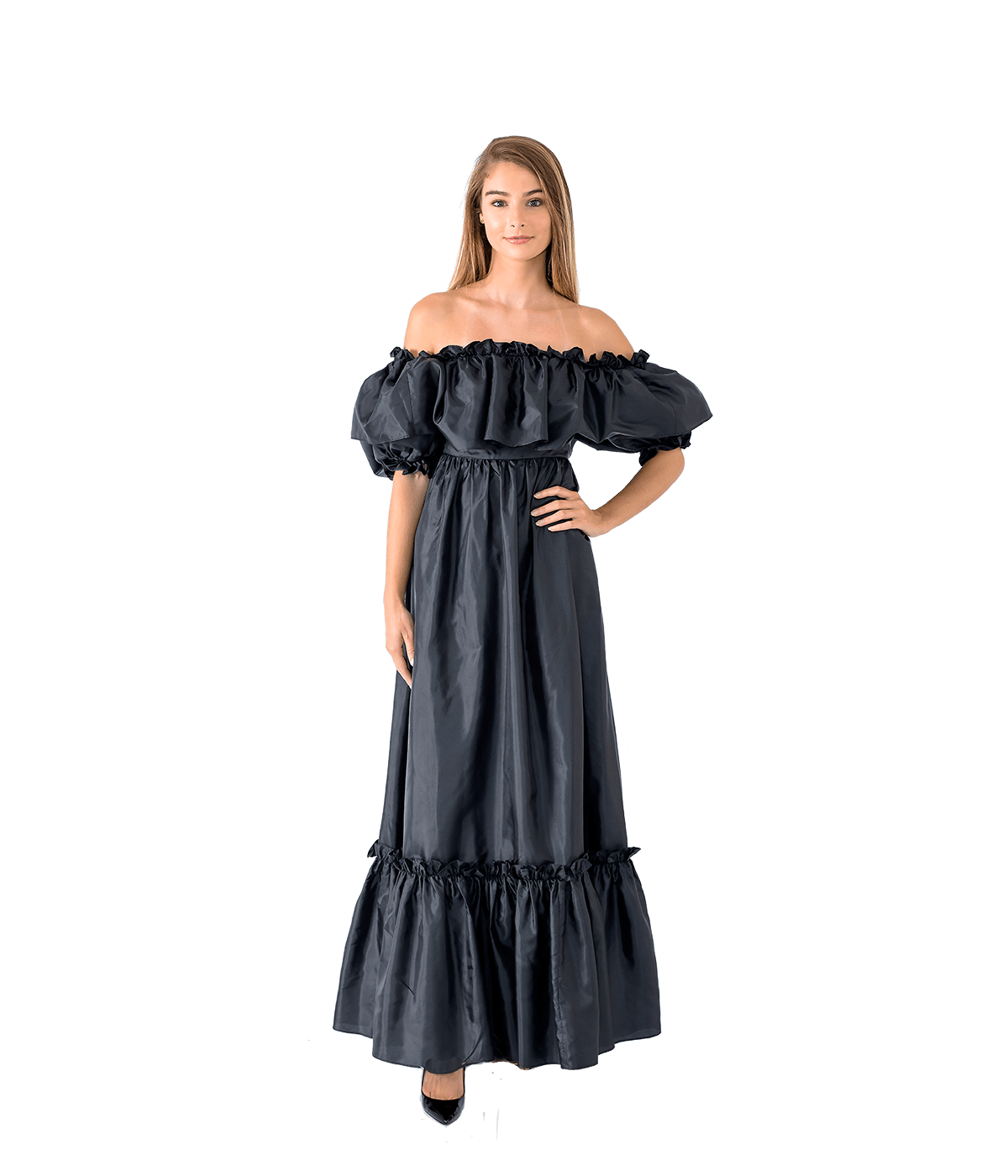 Tara Puff Shoulder Maxi Dress - Lady Jetset