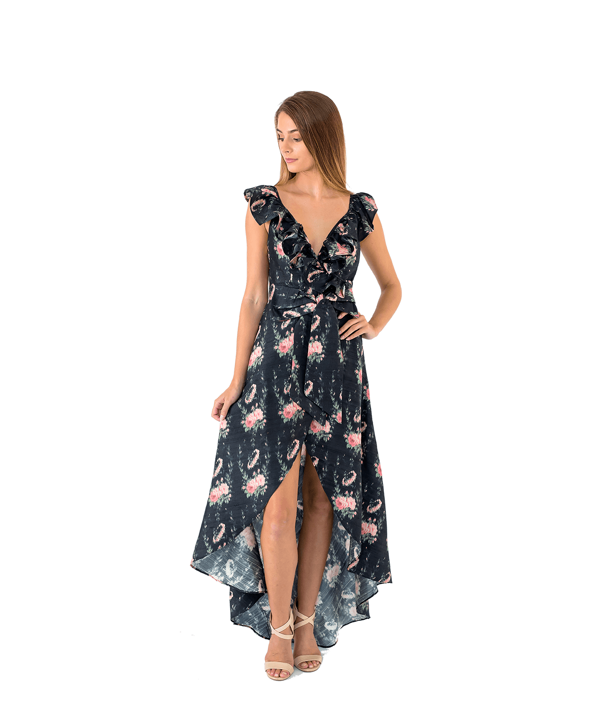 Cosmo Ruffled Floral Maxi Dress - Lady Jetset