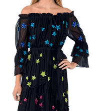 Load image into Gallery viewer, Star Embroidered Maxi Dress - Lady Jetset