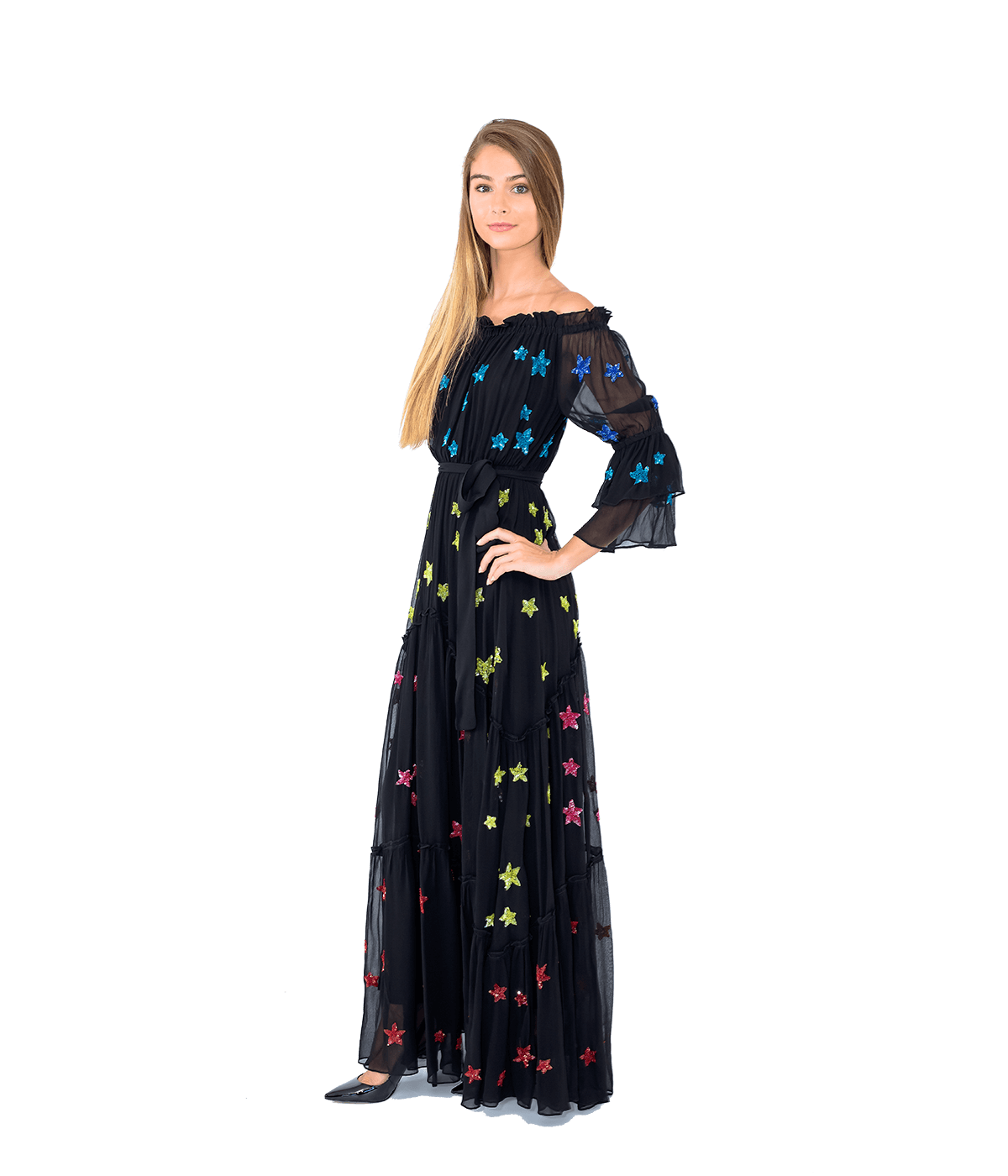 Star Embroidered Maxi Dress - Lady Jetset