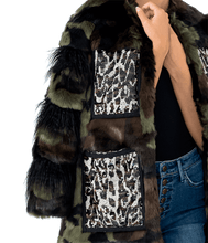 Load image into Gallery viewer, Glitz Camo Sequin Faux Fur Jacket - Lady Jetset