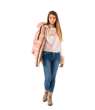 Load image into Gallery viewer, Crewneck Sweater with Faux Fur Cuffs - Lady Jetset