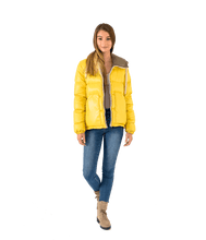 Load image into Gallery viewer, Stud Hooded Puffer Jacket - Lady Jetset
