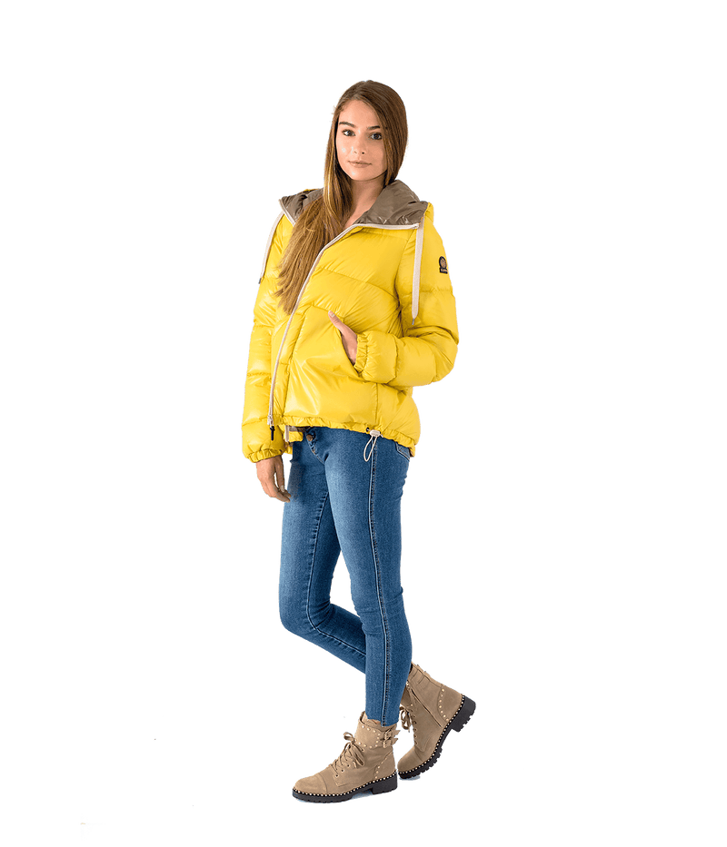 Stud Hooded Puffer Jacket - Lady Jetset