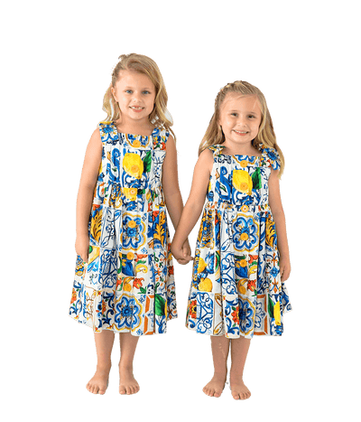 Mommy & Me Majolica Print Maxi Dress - Lady Jetset