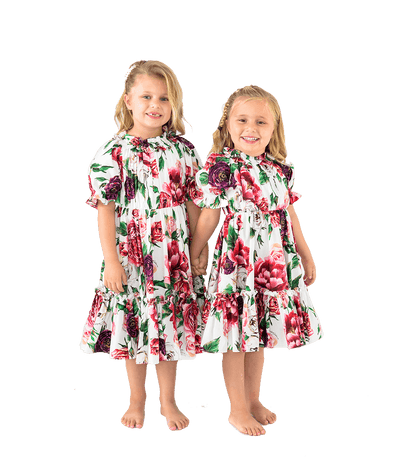 Mommy & Me Peony Print Dress - Lady Jetset