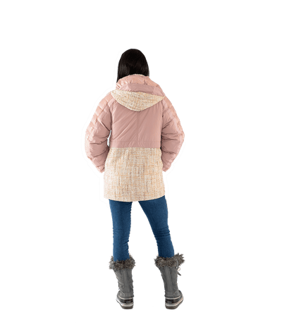 Pink Tweed Parka - Lady Jetset