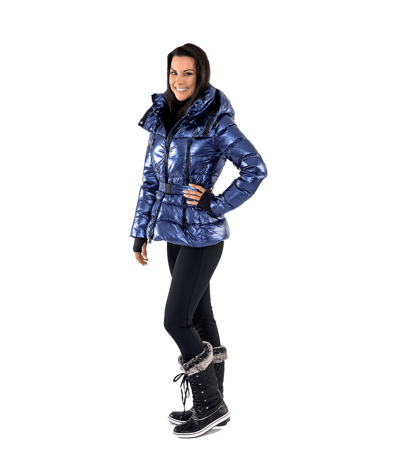 Crinkle Metal Down Jacket - Lady Jetset
