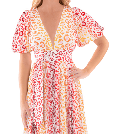Avana Orange Stripe Dress - Lady Jetset