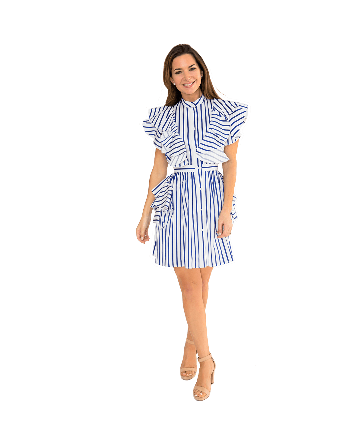 Stripe Ruffle Dress - Lady Jetset