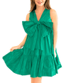 Bow-Front Taffeta Dress - Lady Jetset