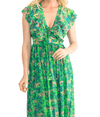 Green Flutter Sleeve Dress - Lady Jetset