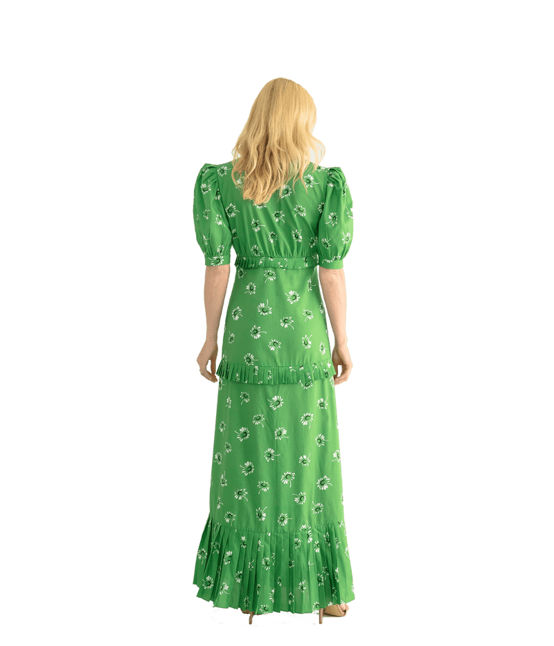 Marguerites Pleated Long Dress - Lady Jetset