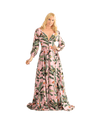 Tropical Print Button Front Maxi Dress - Lady Jetset