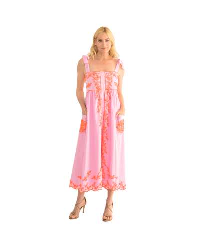 Sugar Pink Tie Shoulder Dress - Lady Jetset
