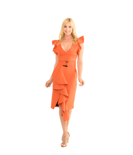 Belted Midi Dress - Lady Jetset