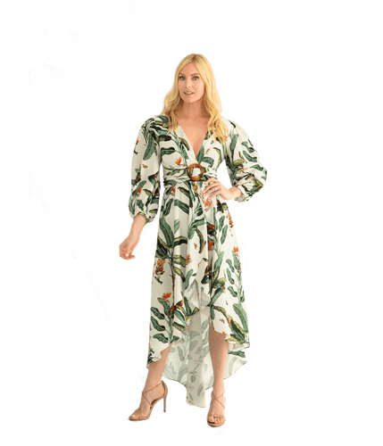 Tropical High Low Romper - Lady Jetset