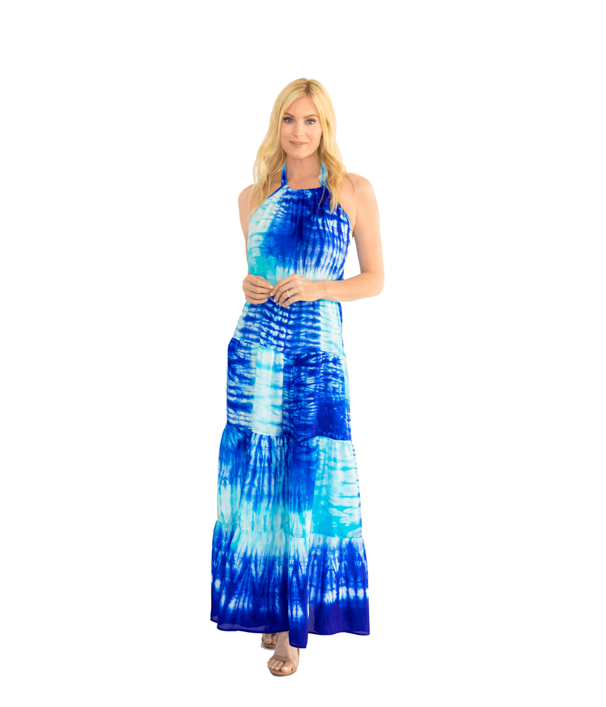 Tie Dye Halter Maxi Dress - Lady Jetset