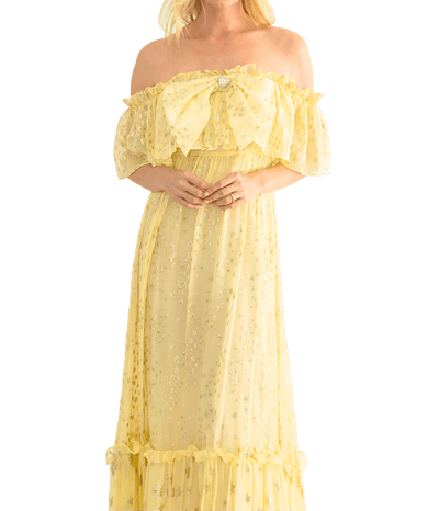 Ronny Off The Shoulder Dress - Sunflower - Lady Jetset