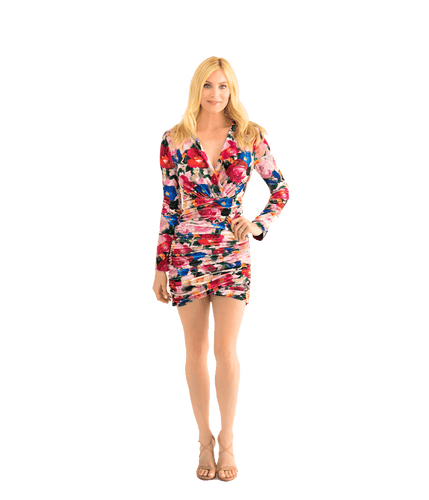 Mariana Velvet Ruched Mini Dress - Lady Jetset