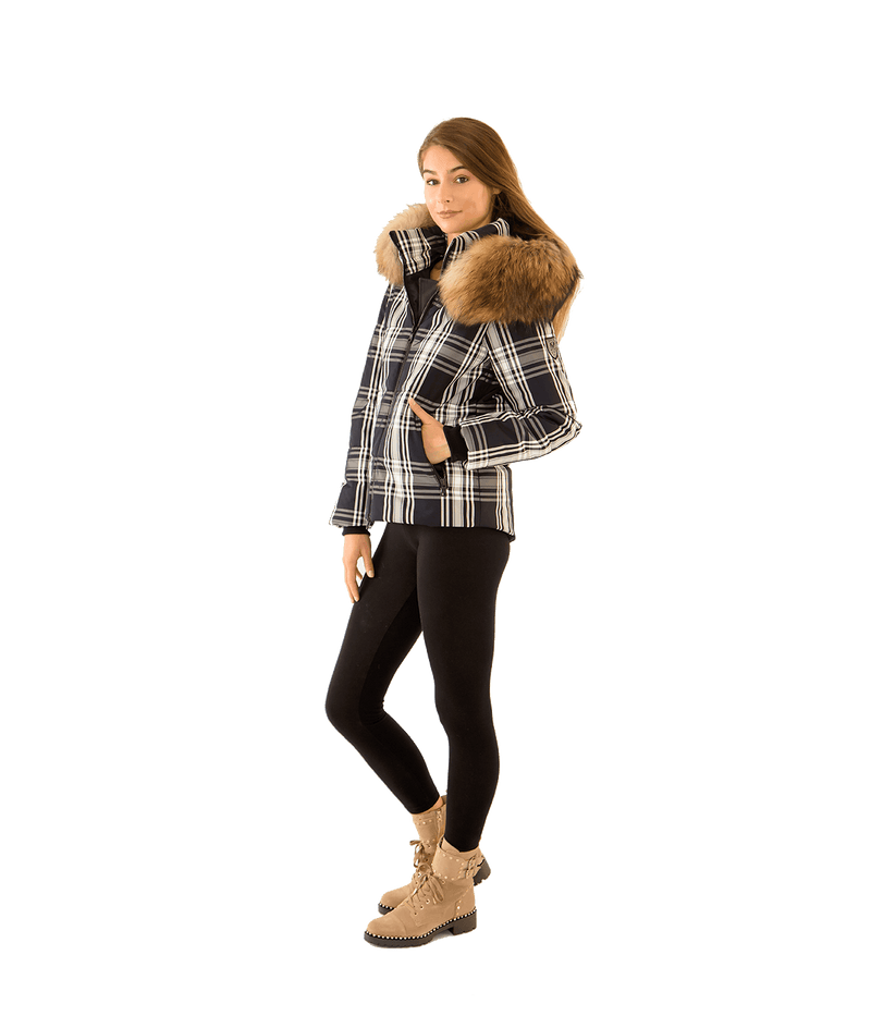 Amesly Plaid Quilted Ski Jacket - Lady Jetset