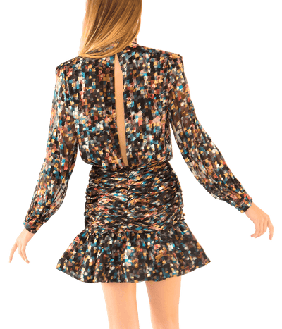 Cordelia Confetti Burnout Mini Dress - Lady Jetset