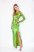 FINAL SALE Sequin Emerald Low Back Dress - Lady Jetset