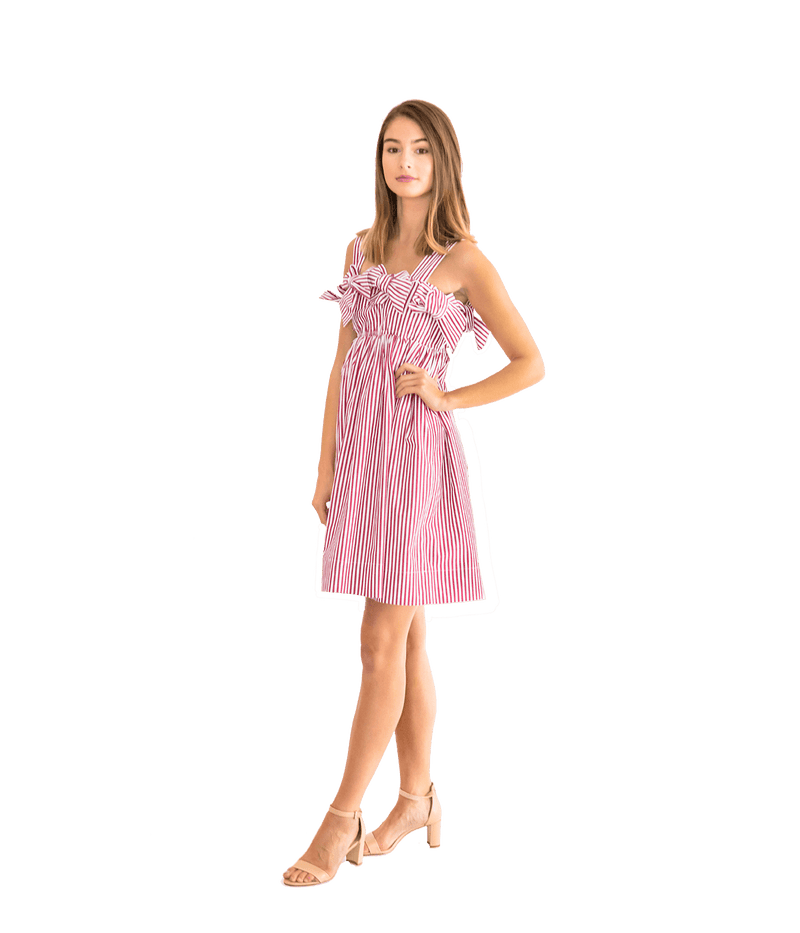 Double Ribbon Mini Dress - Lady Jetset